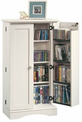Harbor View Multimedia Storage Cabinet Antiqued White - Sauder Furniture - 158050