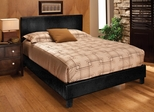 Harbortown King Size Platform Bed in Black Vinyl - Hillsdale Furniture - 1610BKR