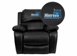 Harford Community College Fighting Owls Embroidered Black Leather Rocker Recliner  - MEN-DA3439-91-BK-41037-EMB-GG
