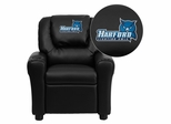 Harford Community College Fighting Owls Embroidered Black Vinyl Kids Recliner - DG-ULT-KID-BK-41037-EMB-GG