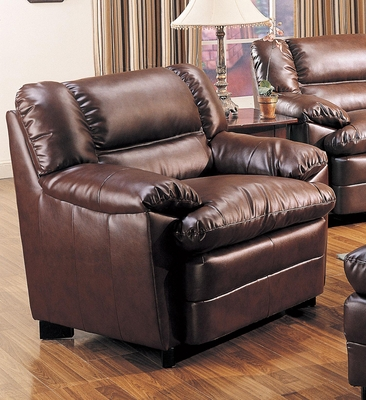 Harper Overstuffed Leather Chair - 501913