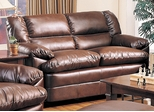 Harper Overstuffed Leather Loveseat - 501912