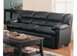 Harper Overstuffed Leather Sofa - 501921