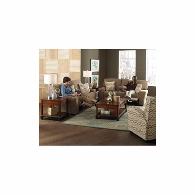 Harrison 3pc Power Living Room Set in Shitake - Catnapper