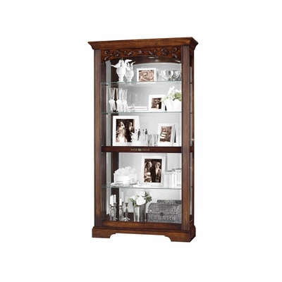Hartland Hampton Cherry Display Cabinet - Howard Miller