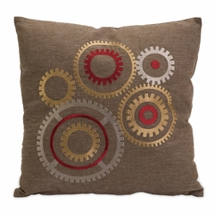 Hartnett Gear Embroidered Pillow - IMAX - 42106