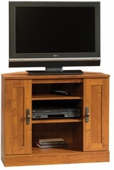Harvest Mill Corner Entertainment Stand Abbey Oak - Sauder Furniture - 404962