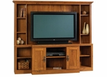 Harvest Mill Home Theater Abbey Oak - Sauder Furniture - 404963