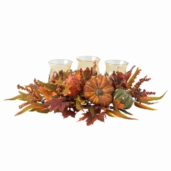 Harvest Triple Candelabrum - Nearly Natural - 4909