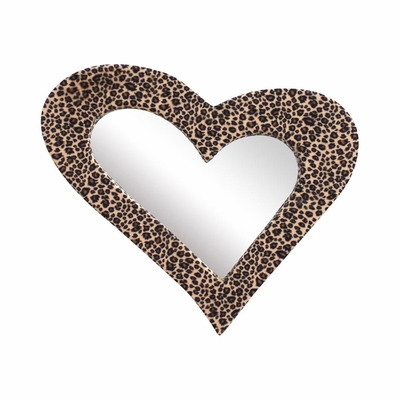 Heart Furr Mirror Leopard - Lumisource