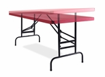 Height Adjustable Blow Molded Folding Table - National Public Seating - BTA-3072