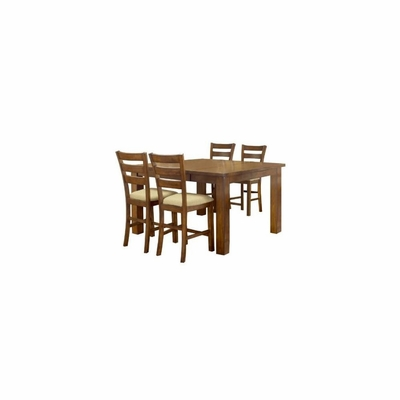 Hemstead 5-Piece Counter Height Dining Room Furniture Set - Hillsdale Furniture - 4941DTBSG5
