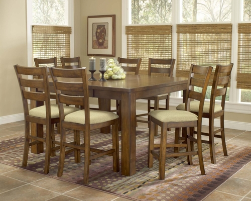 Hemstead 9-Piece Counter Height Dining Room Furniture Set - Hillsdale Furniture - 4941DTBSG9