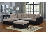 Henri L-Shape Beige / Brown Sectional with Reversible Chaise - 503015