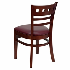 HERCULES American Back Wood Restaurant Chair with Mahogany Finish and Burgundy Vinyl Seat - XU-DGW0030AMR-MAH-BURV-GG