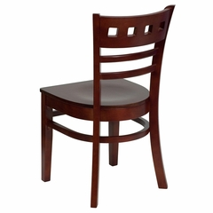 HERCULES American Back Wood Restaurant Chair with Mahogany Finish - XU-DGW0030AMR-MAH-GG