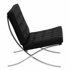 HERCULES Calcutta Series Leather Lounge Chair with Cross Legs - ZB-CALCUTTA-801-CHAIR-BK-GG