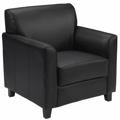 HERCULES Diplomat Series Black Leather Chair - BT-827-1-BK-GG