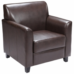 HERCULES Diplomat Series Brown Leather Chair - BT-827-1-BN-GG