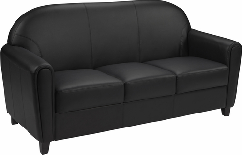 HERCULES Envoy Series Black Leather Sofa - BT-828-3-BK-GG