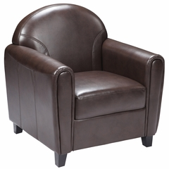 HERCULES Envoy Series Brown Leather Chair  - BT-828-1-BN-GG