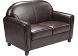 HERCULES Envoy Series Brown Leather Love Seat  - BT-828-2-BN-GG
