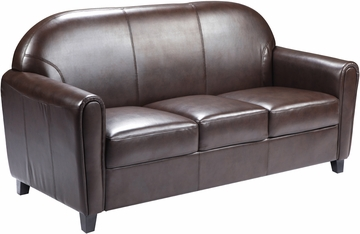 HERCULES Envoy Series Brown Leather Sofa - BT-828-3-BN-GG