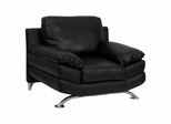 HERCULES Excel Series Plush Black Leather Chair with Curved Feet - H-9742C-EXCEL-CHAIR-GG