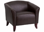 HERCULES Imperial Series Brown Leather Chair - 111-1-BN-GG