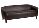 HERCULES Imperial Series Brown Leather Sofa - 111-3-BN-GG
