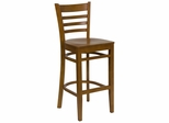 HERCULES Ladder Back Wood Bar Stool with Cherry Finish - XU-DGW0005BARLAD-CHY-GG