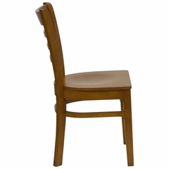 HERCULES Ladder Back Wood Chair with Cherry Finish - XU-DGW0005LAD-CHY-GG