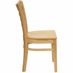 HERCULES Ladder Back Wood Chair with Natural Finish - XU-DGW0005LAD-NAT-GG