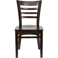 HERCULES Ladder Back Wood Chair with Walnut Finish - XU-DGW0005LAD-WAL-GG