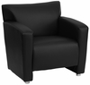 HERCULES Majesty Series Black Leather Chair  - 222-1-BK-GG