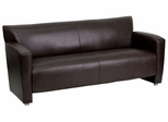 HERCULES Majesty Series Brown Leather Sofa  - 222-3-BN-GG