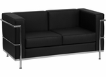 HERCULES Regal Series Contemporary Black Leather Love Seat - ZB-Regal-810-2-LS-BK-GG