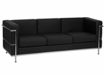 HERCULES Regal Series Contemporary Black Leather Sofa - ZB-Regal-810-3-SOFA-BK-GG