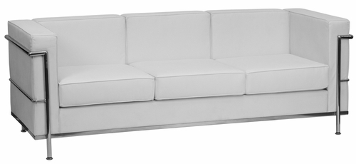 HERCULES Regal Series Contemporary White Leather Sofa - ZB-Regal-810-3-SOFA-WH-GG
