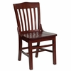 HERCULES School House Back Wood Restaurant Chair with Mahogany Finish - XU-DG-W0006-MAH-GG