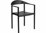 HERCULES Series 1000 lb. Capacity Black Plastic Cafe Stack Chair - RUT-418-BK-GG