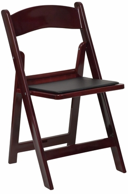 HERCULES Series 1000 lb. Capacity Red Mahogany Resin Folding Chair - LE-L-1-MAH-GG