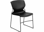 HERCULES Series 1500 lb. Capacity Black Full Back Stack Chair - RUT-800-BK-GG