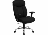 HERCULES Series 350 lb. Capacity Big & Tall Black Fabric Office Chair - GO-1235-BK-FAB-A-GG