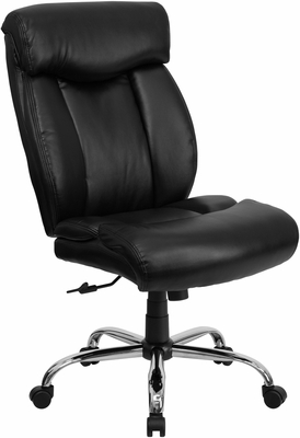 HERCULES Series 350 lb. Capacity Big & Tall Black Leather Office Chair  - GO-1235-BK-LEA-GG