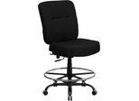 HERCULES Series 400 lb. Capacity Big & Tall Black Fabric Drafting Stool - WL-735SYG-BK-D-GG