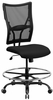 HERCULES Series 400 lb. Capacity Big & Tall Black Mesh Drafting Stool  - WL-5029SYG-D-GG