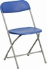 HERCULES Series 440 lb. Capacity Premium Blue Plastic Folding Chair - BH-D0001-BL-GG