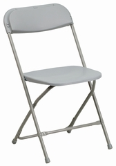 HERCULES Series 440 lb. Capacity Premium Gray Plastic Folding Chair - BH-D0001-GY-GG