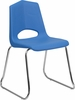HERCULES Series 500 lb. Capacity Blue Plastic Stack Chair - FD-BLUE-CHR-GG